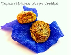 vegan chickpea ginger cookies